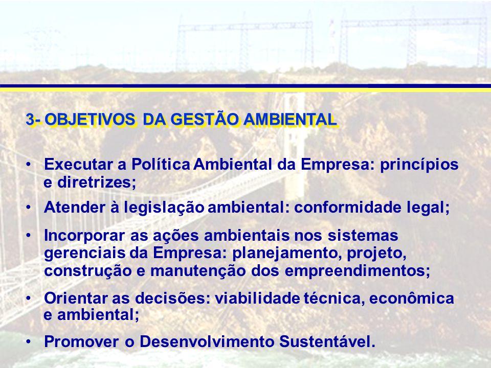 3- OBJETIVOS DA GESTÃO AMBIENTAL