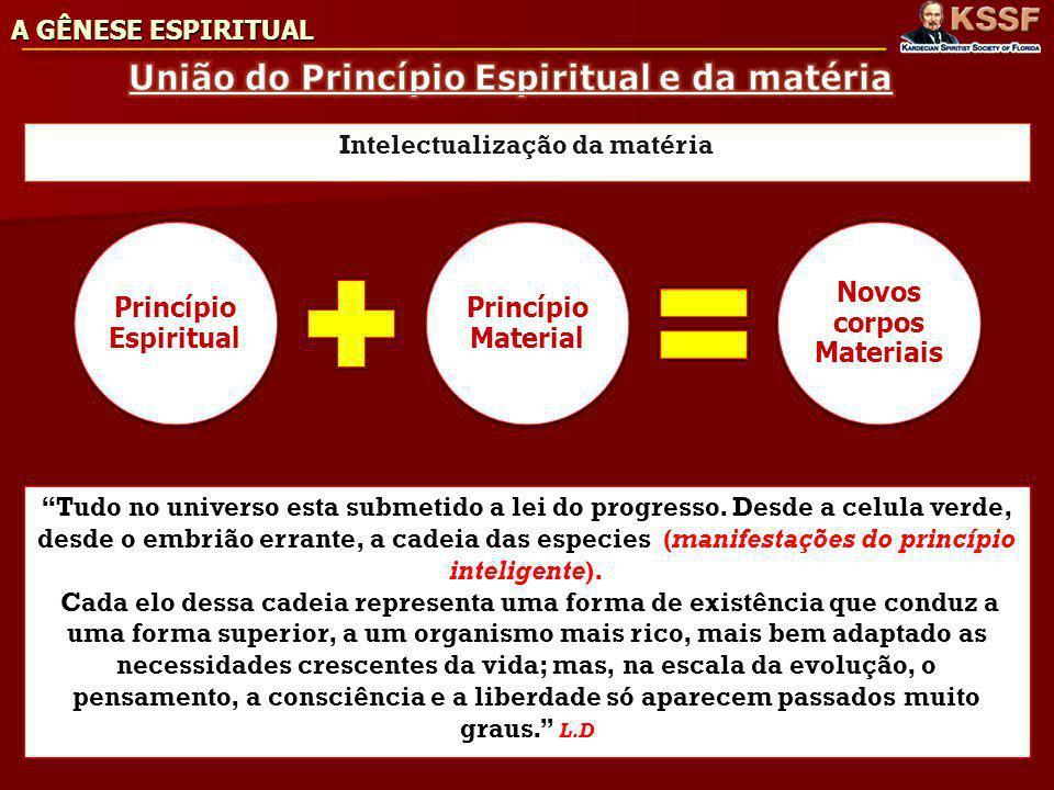 União do Princípio Espiritual e da matéria