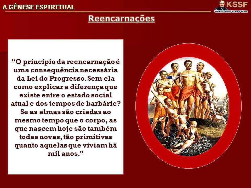 A GÊNESE ESPIRITUAL Reencarnações.