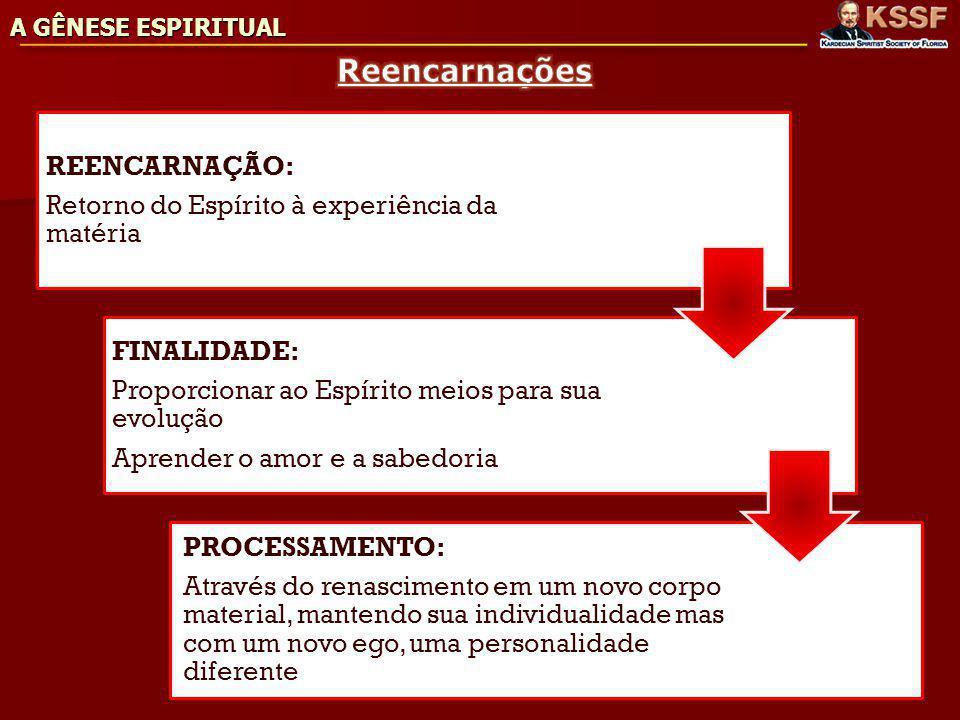 Reencarnações REENCARNAÇÃO:
