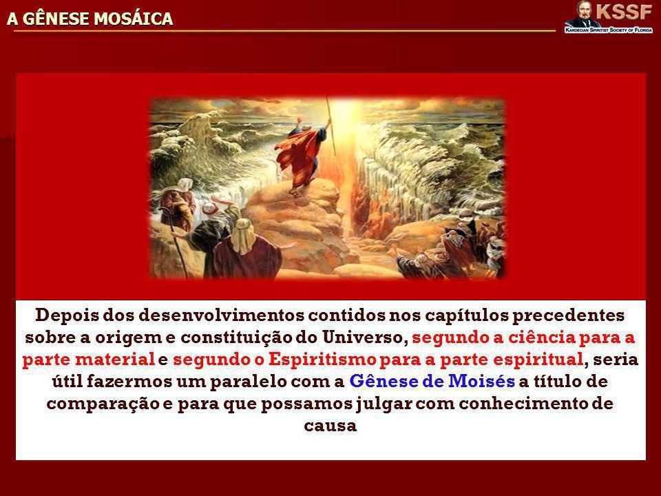 A GÊNESE MOSÁICA