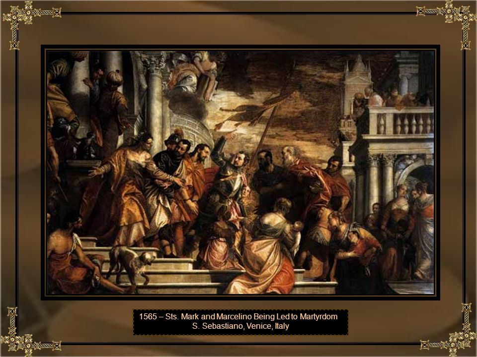 1565 – Sts. Mark and Marcelino Being Led to Martyrdom