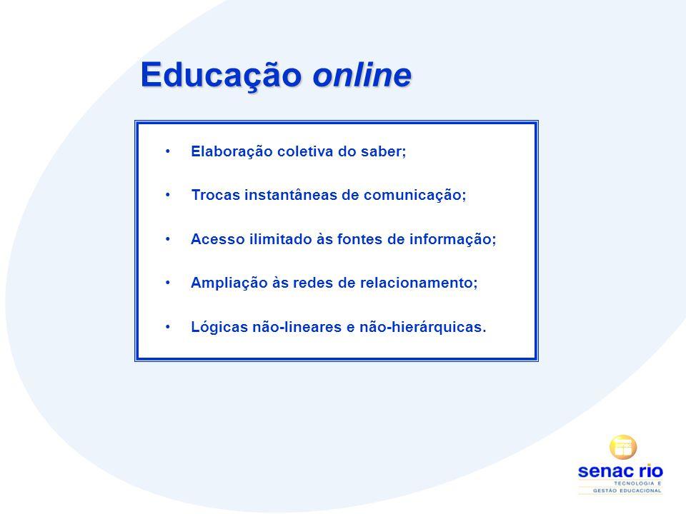Educação online Elaboração coletiva do saber;