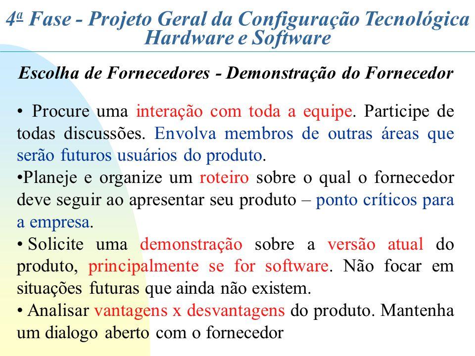 Escolha de Fornecedores - Demonstração do Fornecedor