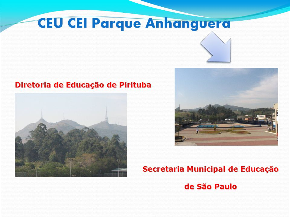 Diretoria de Educação de Pirituba Secretaria Municipal de Educação