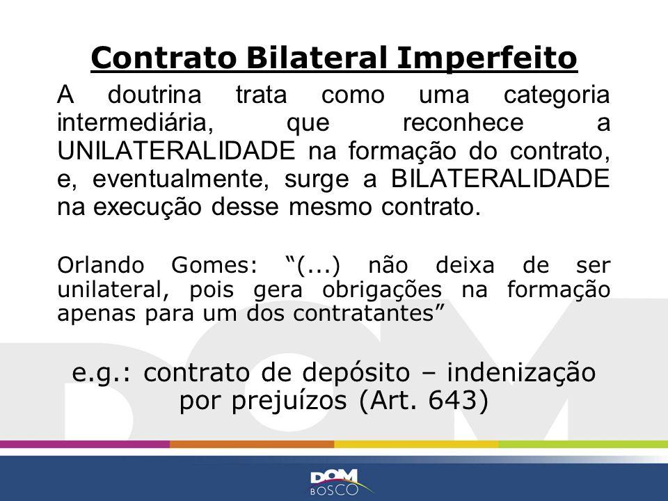 Contrato Bilateral Imperfeito