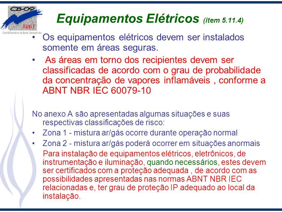 Equipamentos Elétricos (item 5.11.4)