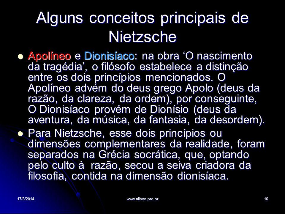 Alguns conceitos principais de Nietzsche