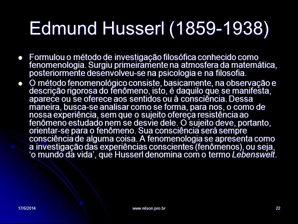 Edmund Husserl (1859-1938)