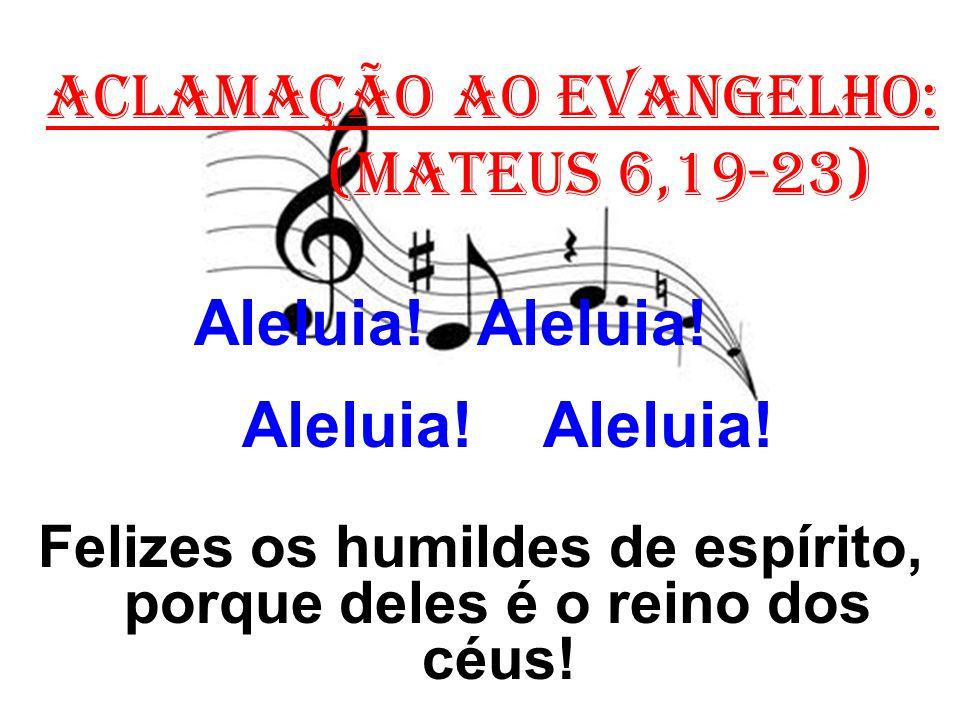 Felizes os humildes de espírito, porque deles é o reino dos céus!