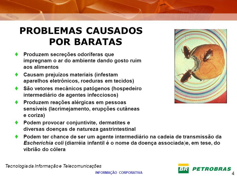 PROBLEMAS CAUSADOS POR BARATAS INFORMAÇÃO CORPORATIVA