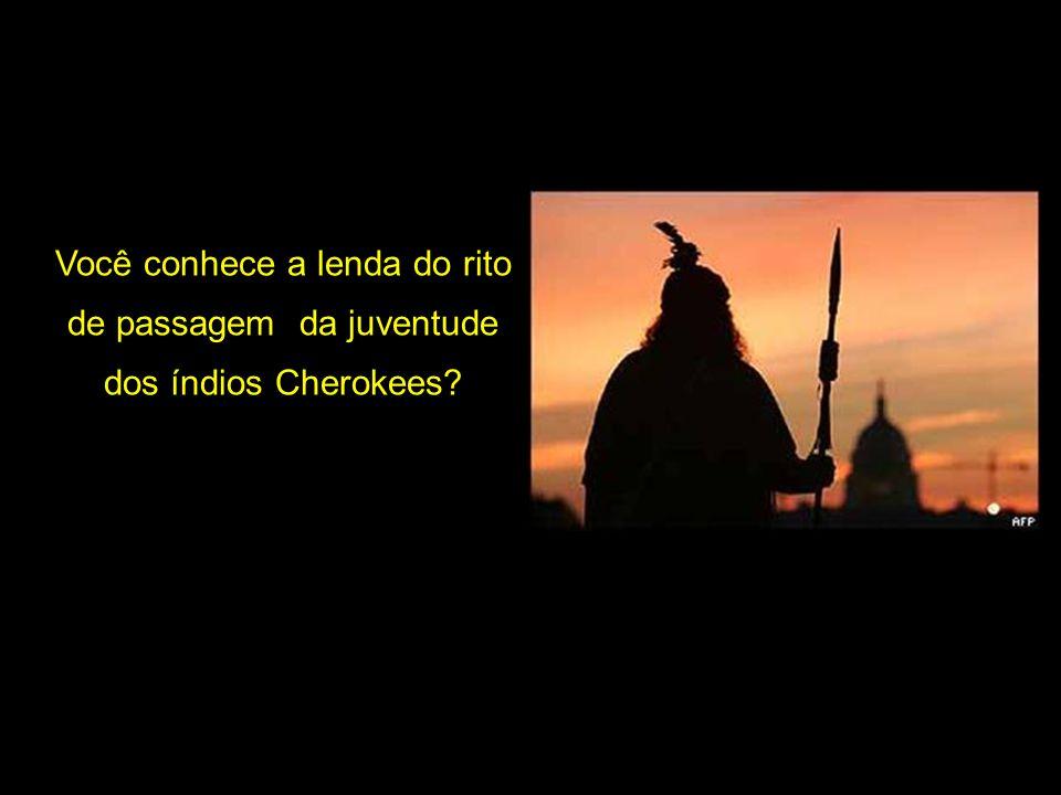 Você conhece a lenda do rito de passagem da juventude dos índios Cherokees