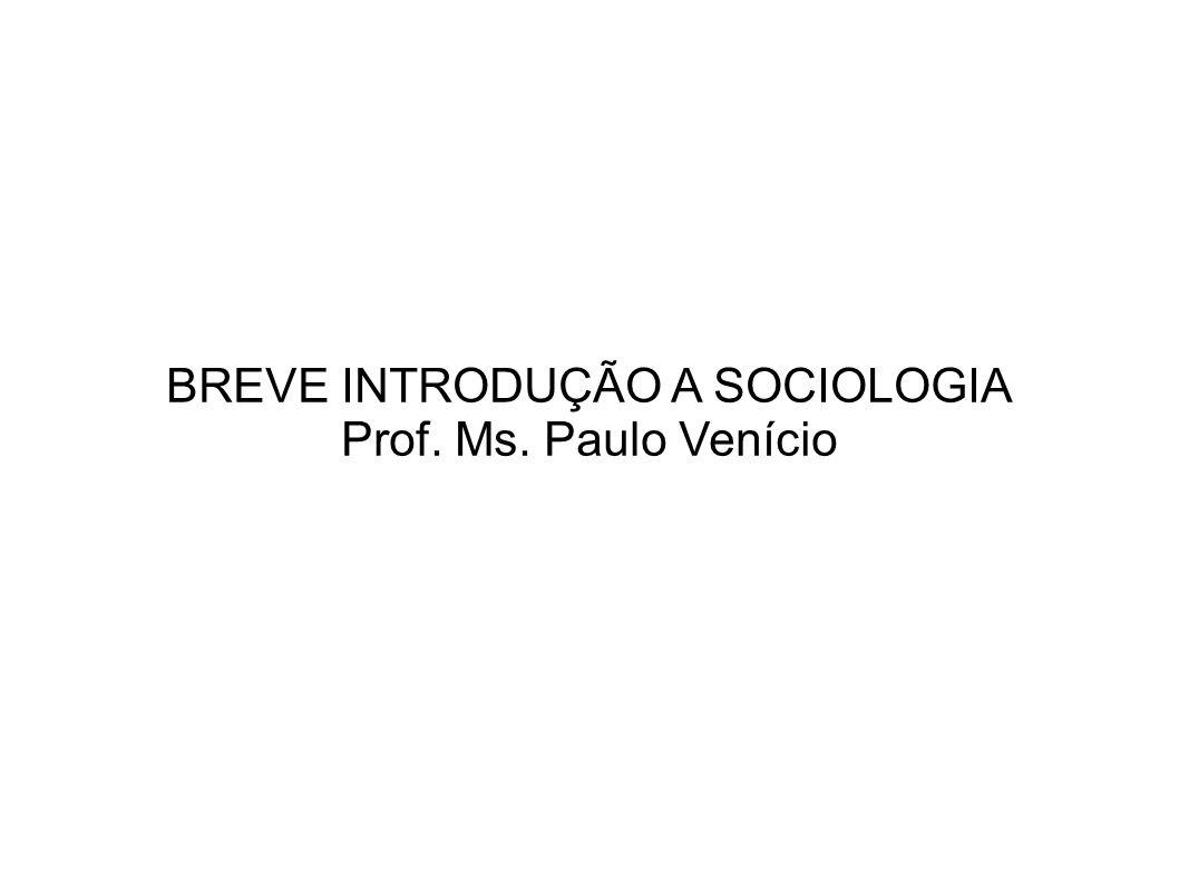 BREVE INTRODUÇÃO A SOCIOLOGIA