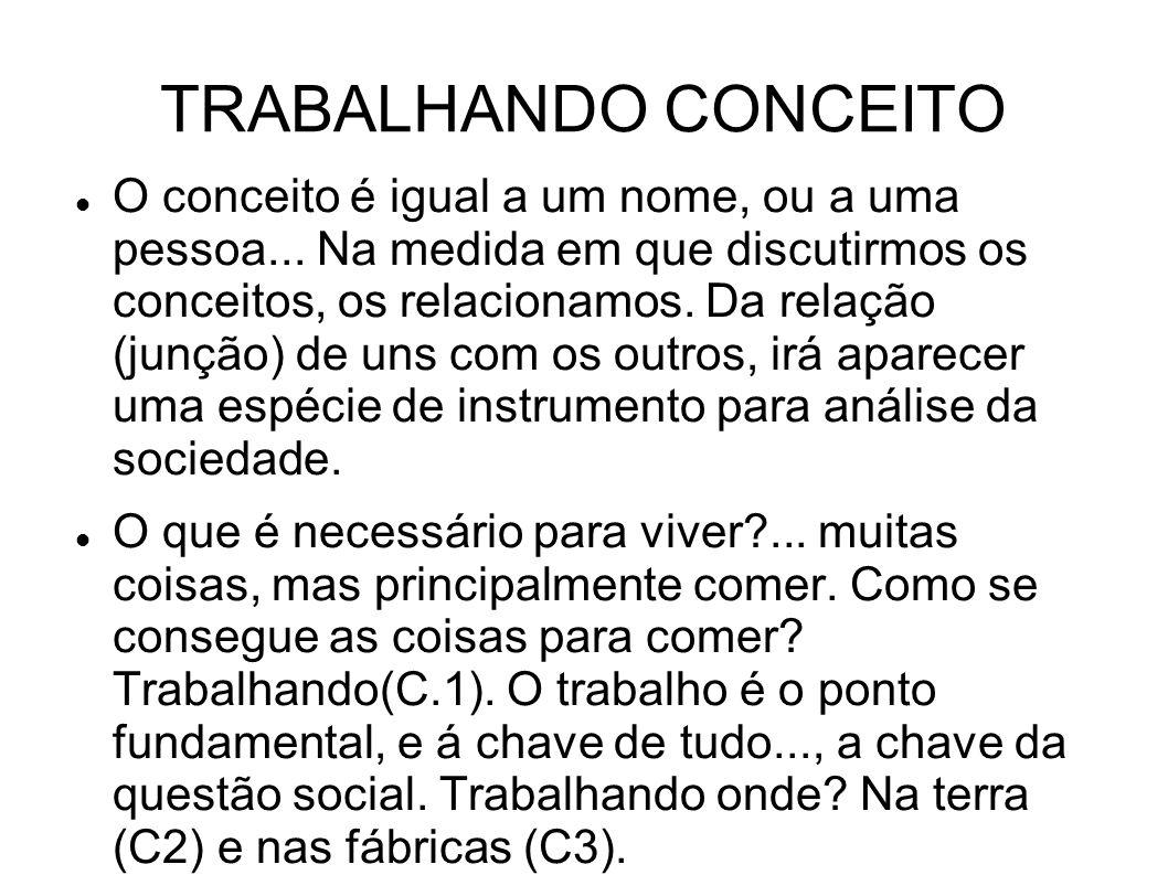 TRABALHANDO CONCEITO