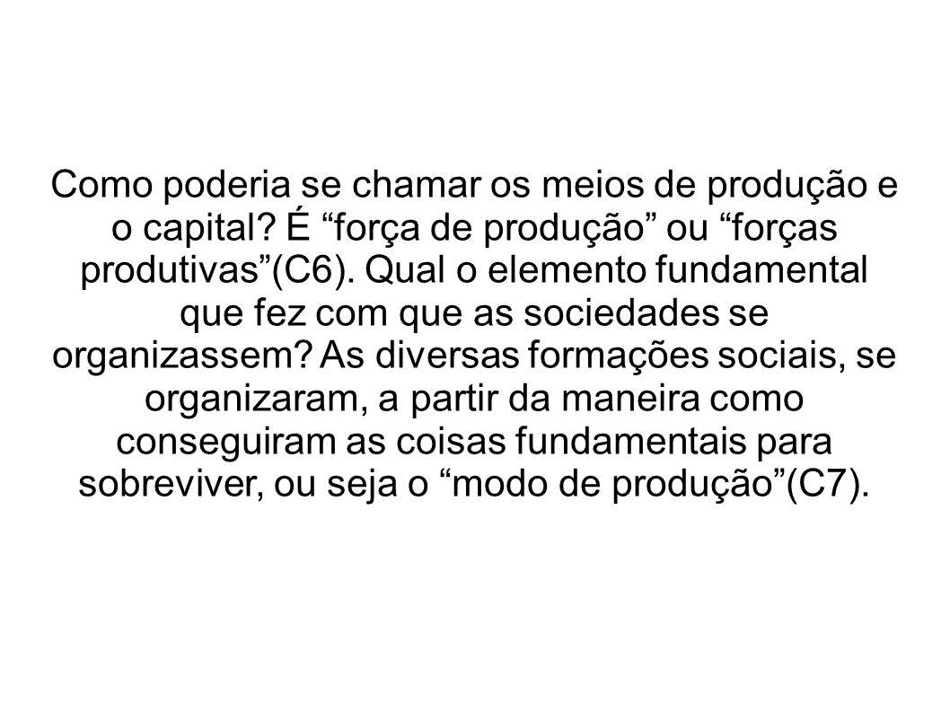 Como poderia se chamar os meios de produção e o capital