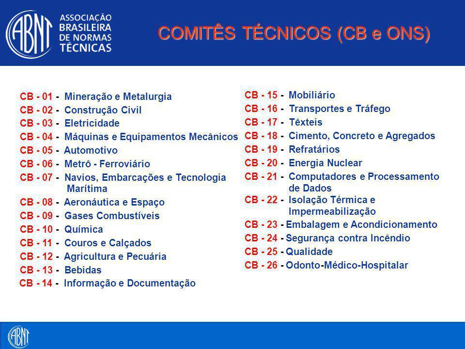 COMITÊS TÉCNICOS (CB e ONS)