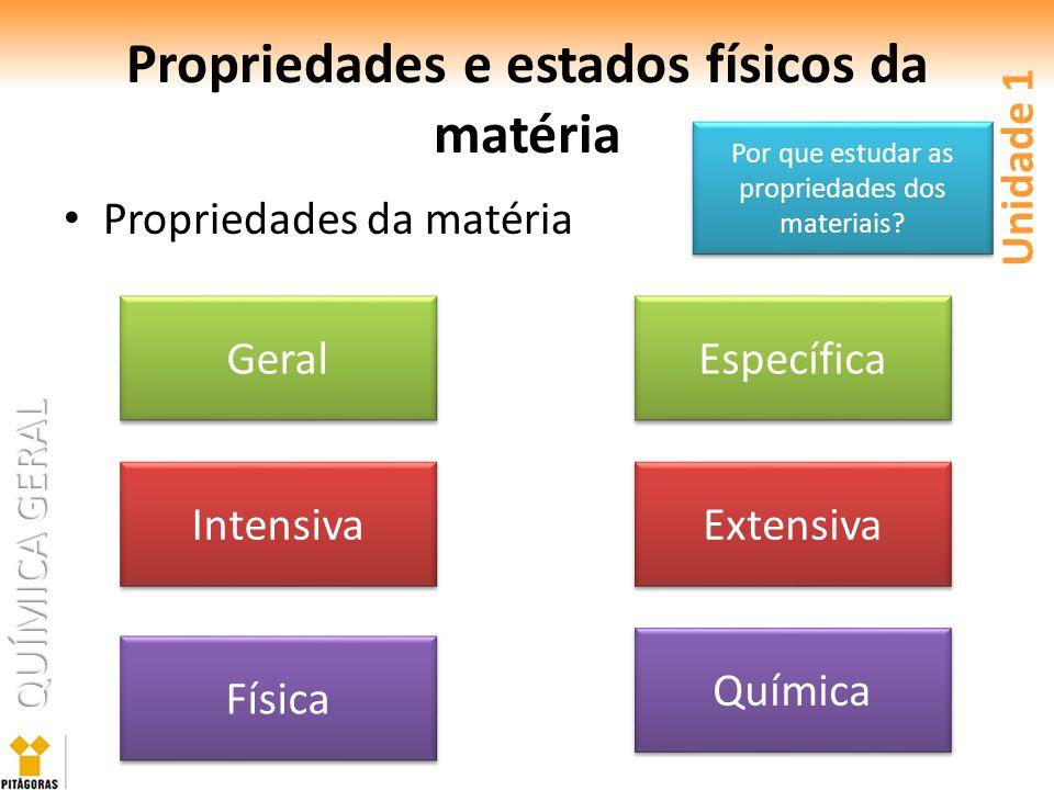 Propriedades e estados físicos da matéria