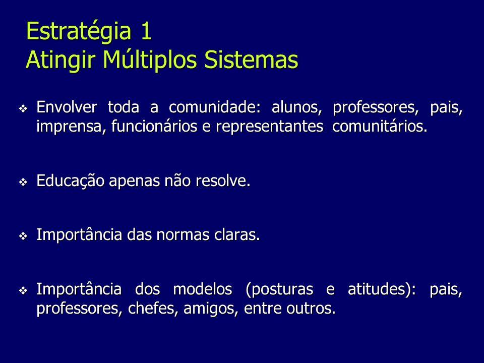 Estratégia 1 Atingir Múltiplos Sistemas
