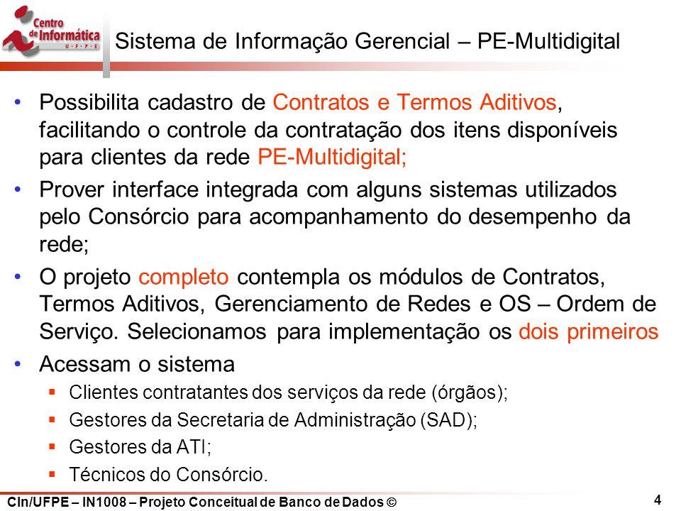 Sistema de Informação Gerencial – PE-Multidigital