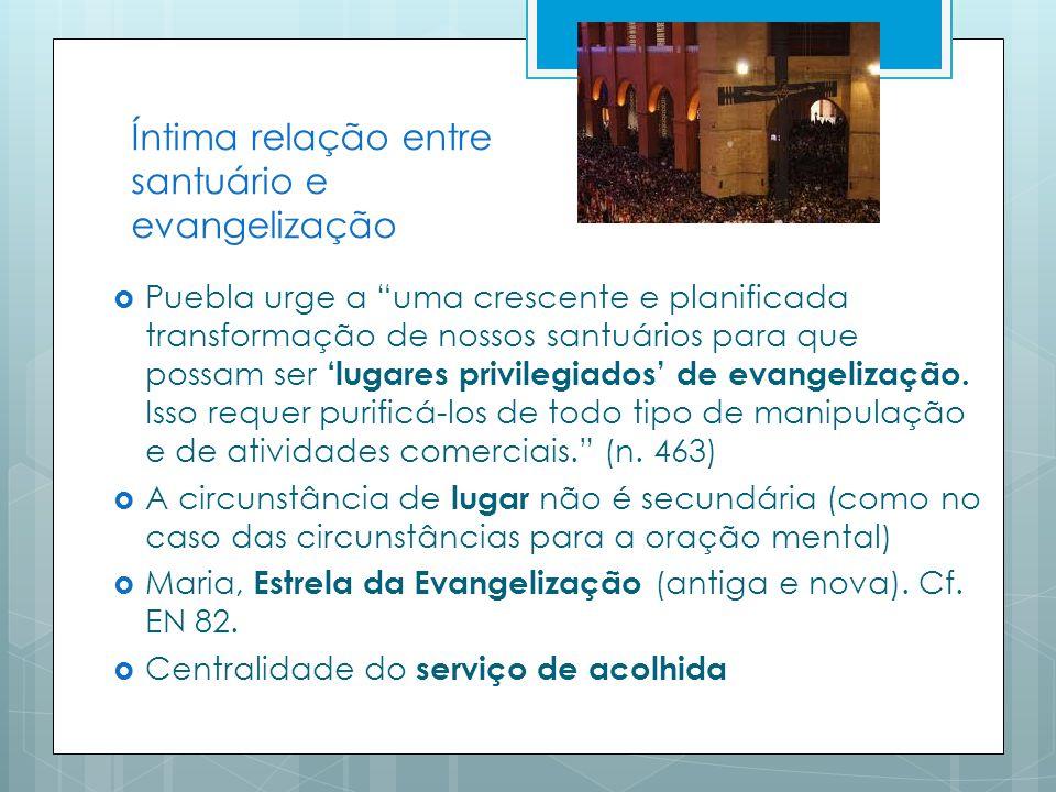 Íntima relação entre santuário e evangelização