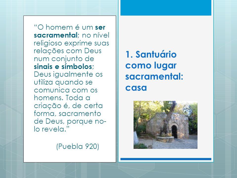 1. Santuário como lugar sacramental: casa
