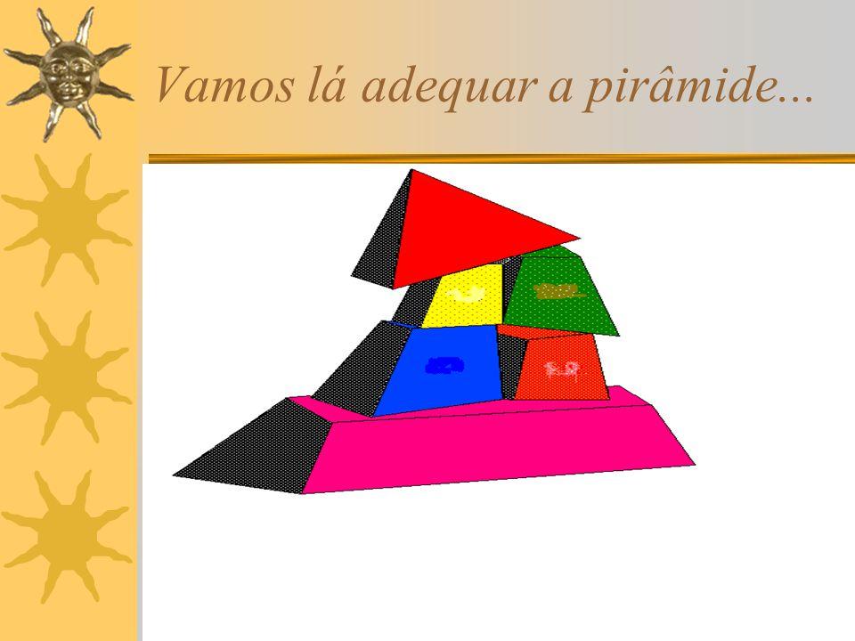 Vamos lá adequar a pirâmide...