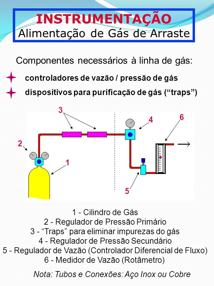 INSTRUMENTAÇÃO Alimentação de Gás de Arraste