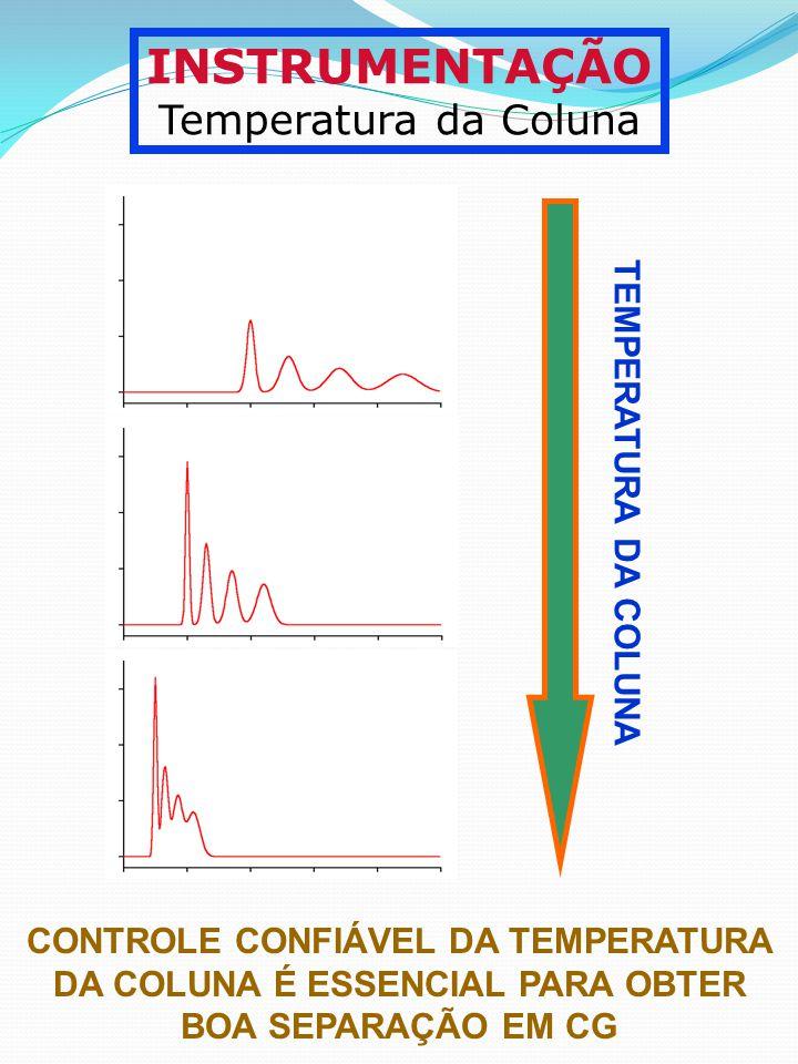 INSTRUMENTAÇÃO Temperatura da Coluna TEMPERATURA DA COLUNA