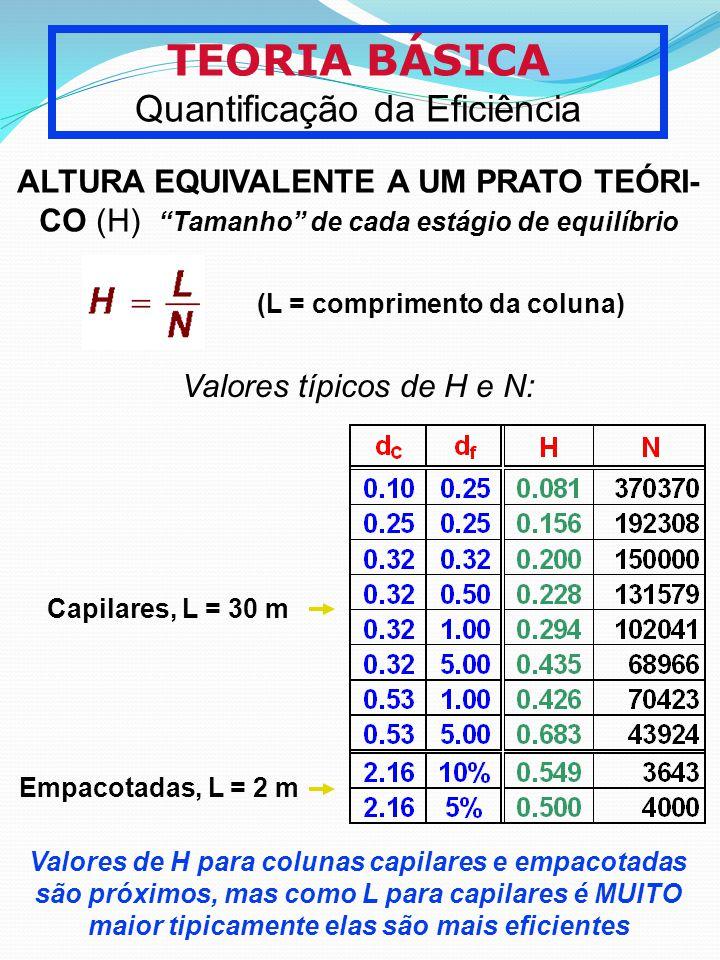 TEORIA BÁSICA Quantificação da Eficiência