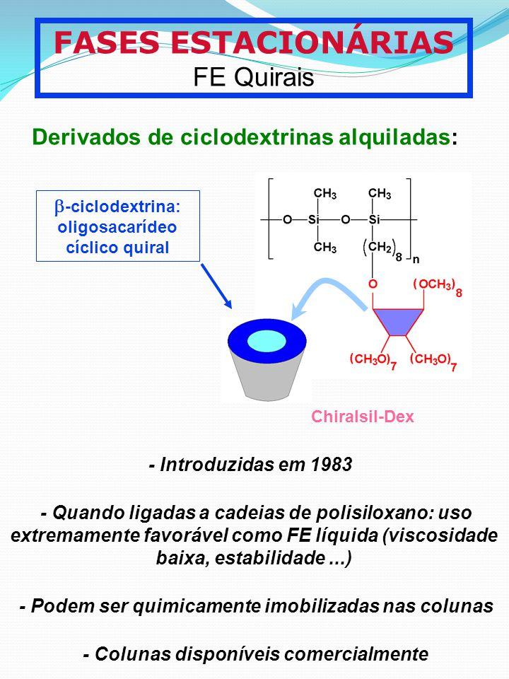 b-ciclodextrina: oligosacarídeo cíclico quiral