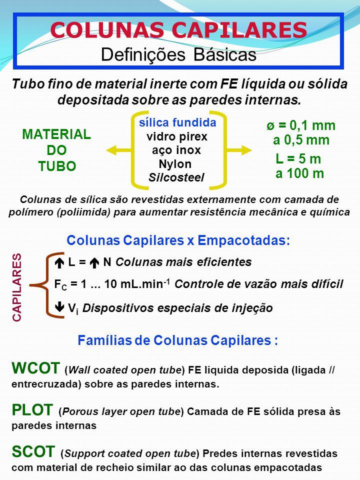 COLUNAS CAPILARES Definições Básicas