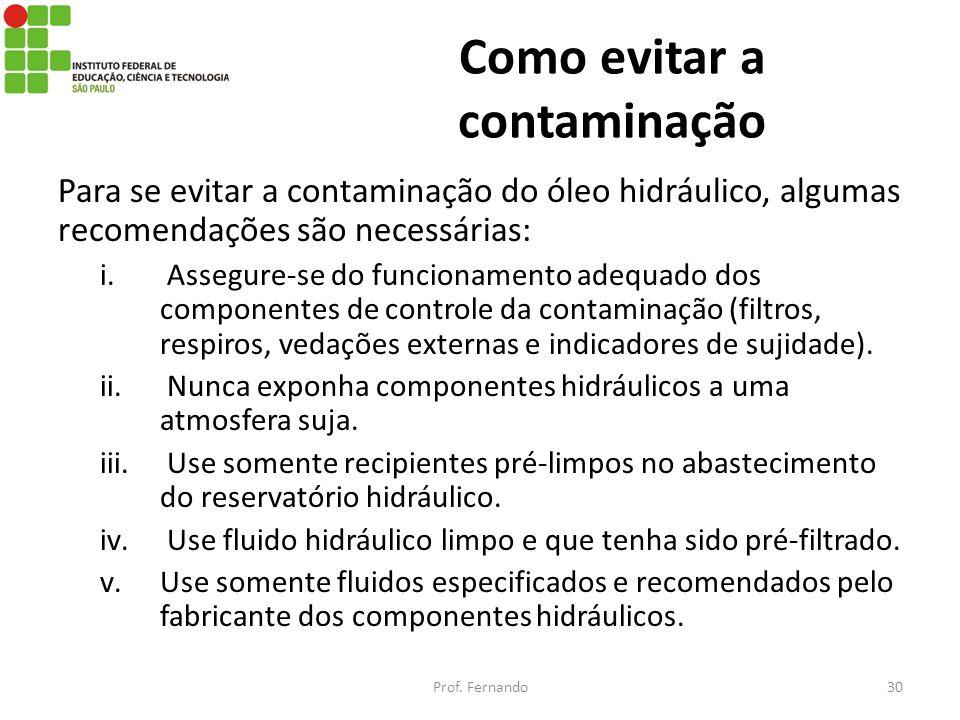 Como evitar a contaminação