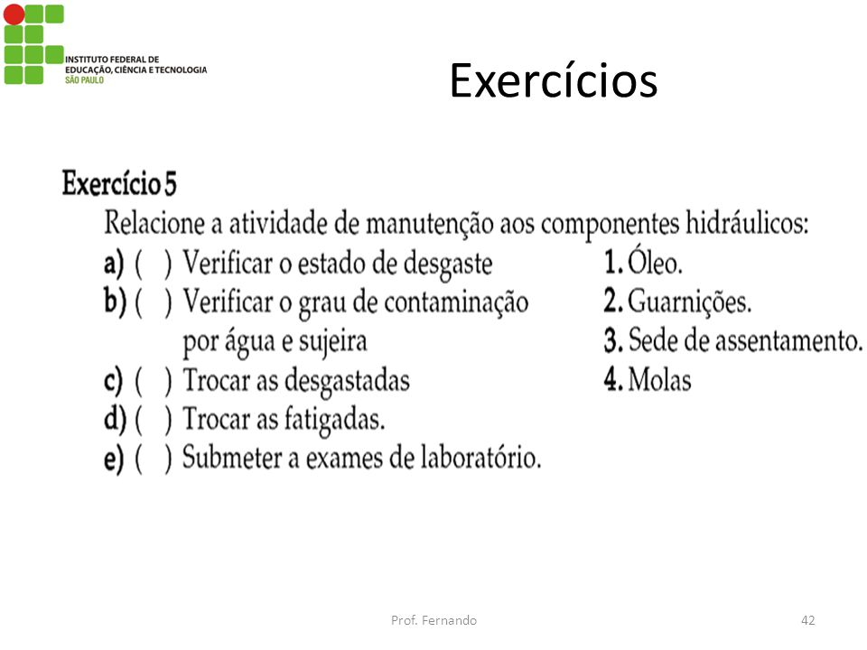 Exercícios Prof. Fernando