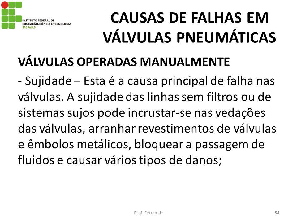 CAUSAS DE FALHAS EM VÁLVULAS PNEUMÁTICAS