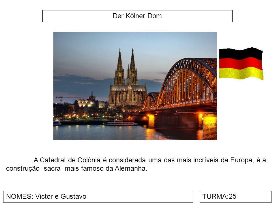 Der Kölner Dom A Catedral de Colônia é considerada uma das mais incríveis da Europa, é a construção sacra mais famoso da Alemanha.