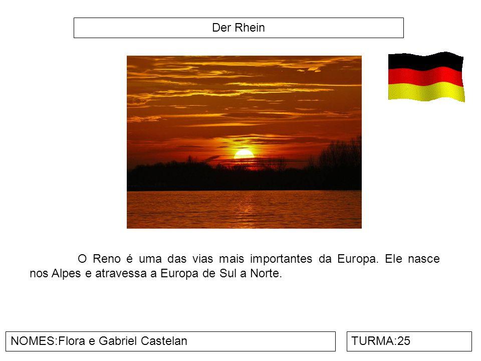 Der Rhein O Reno é uma das vias mais importantes da Europa. Ele nasce nos Alpes e atravessa a Europa de Sul a Norte.