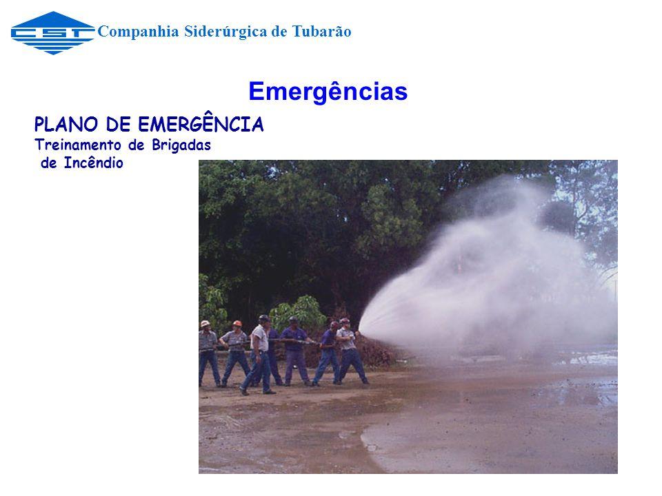 Emergências PLANO DE EMERGÊNCIA Companhia Siderúrgica de Tubarão