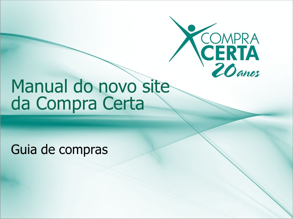 Manual do novo site da Compra Certa