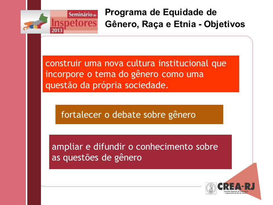 Programa de Equidade de Gênero, Raça e Etnia - Objetivos