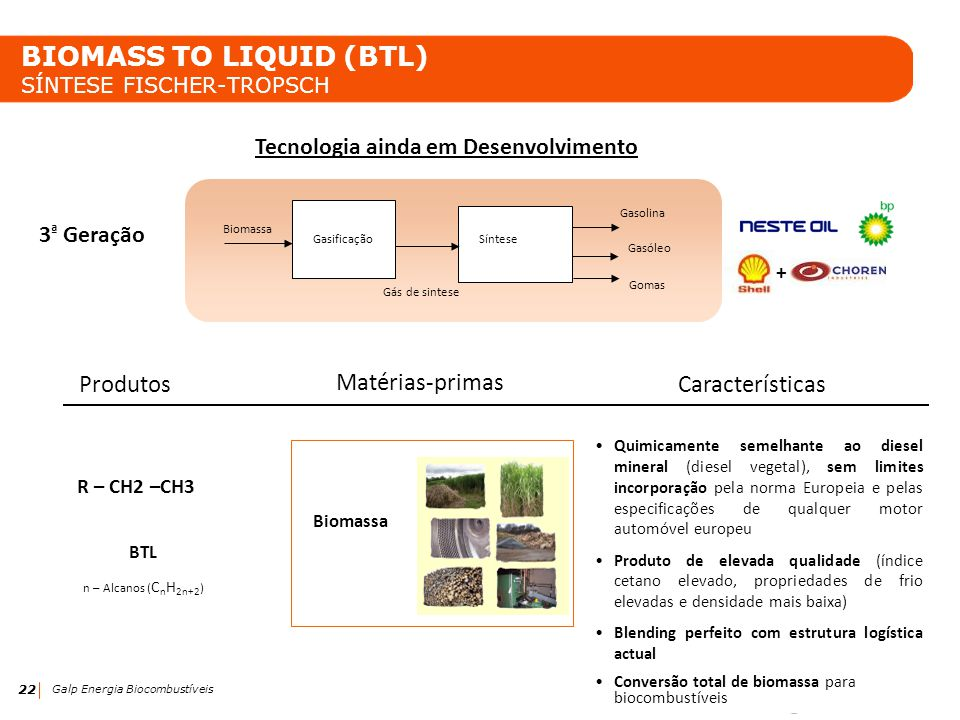 BIOMASS TO LIQUID (BTL) SÍNTESE FISCHER-TROPSCH