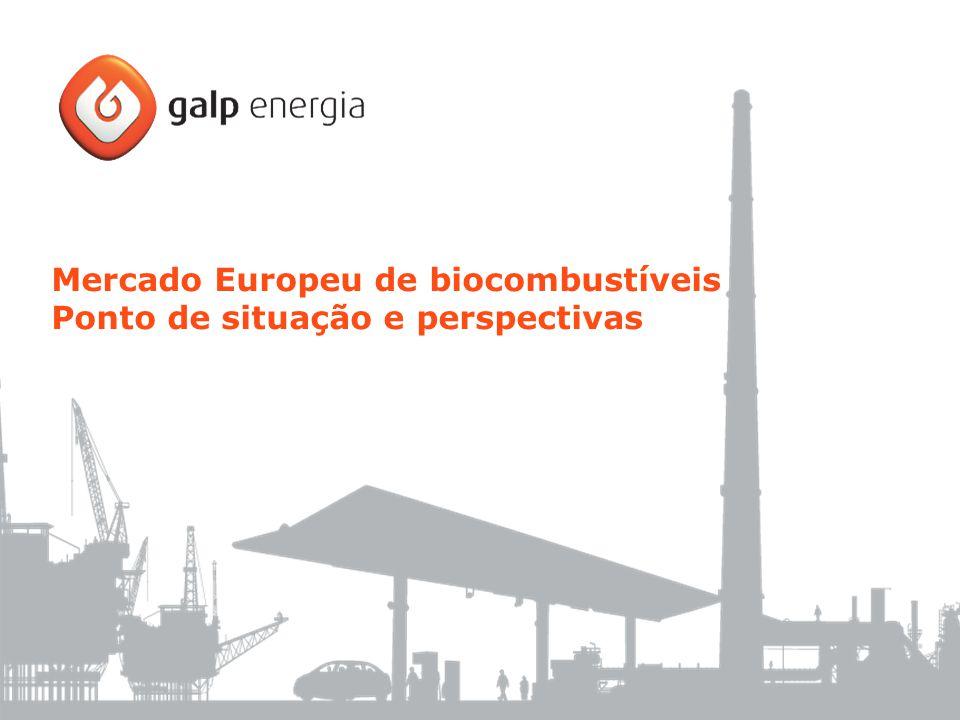 Mercado Europeu de biocombustíveis Ponto de situação e perspectivas
