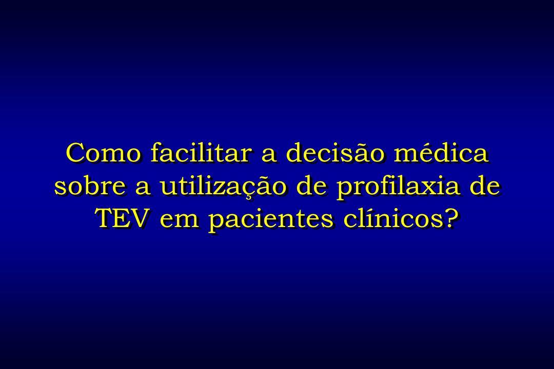 Como facilitar a decisão médica sobre a utilização de profilaxia de TEV em pacientes clínicos