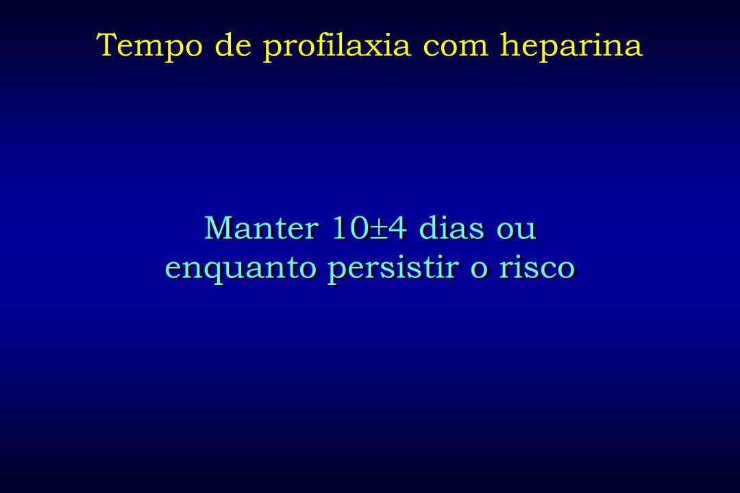 Tempo de profilaxia com heparina