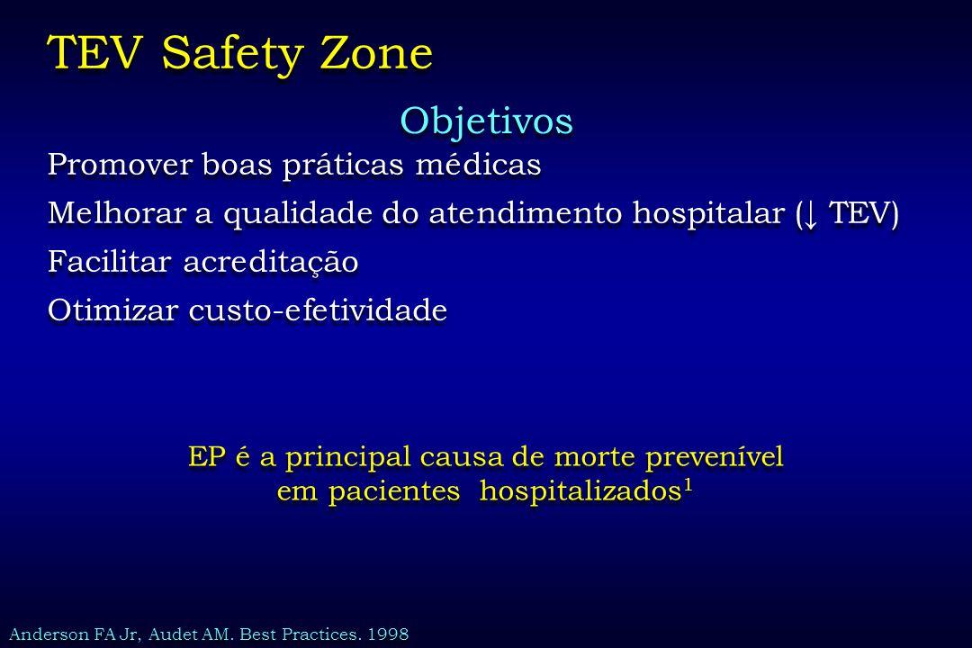TEV Safety Zone Objetivos Promover boas práticas médicas
