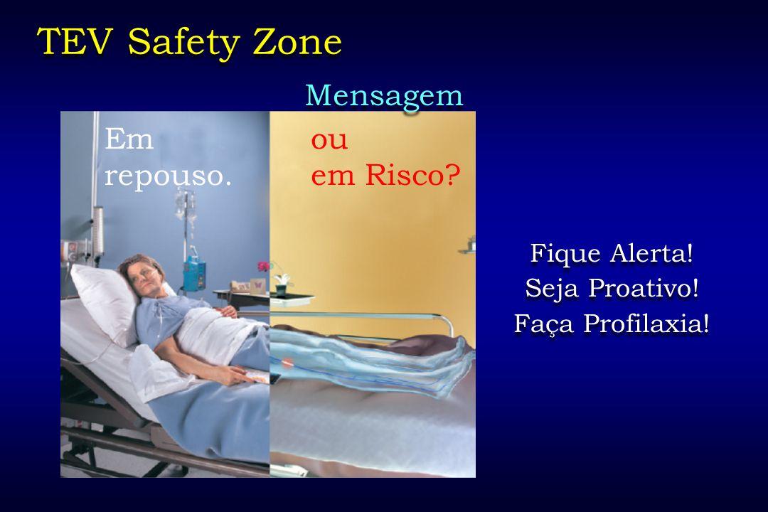 TEV Safety Zone Mensagem Em repouso. ou em Risco Fique Alerta!