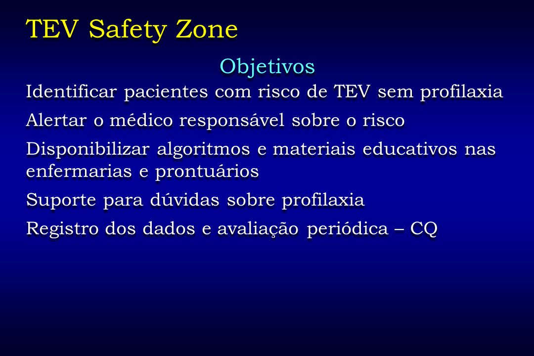 TEV Safety Zone Objetivos
