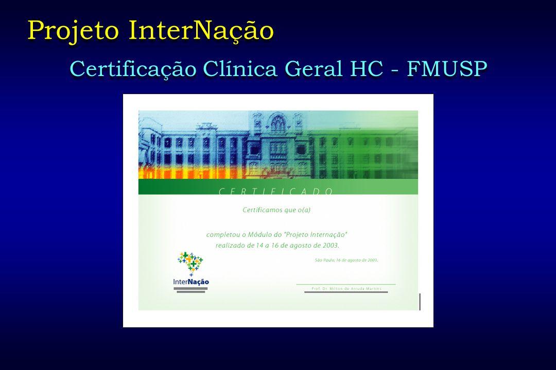 Certificação Clínica Geral HC - FMUSP