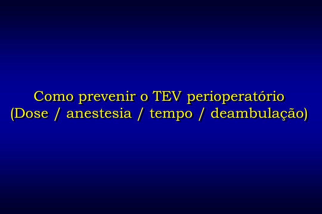 Como prevenir o TEV perioperatório