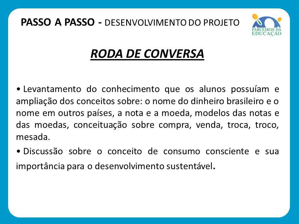 RODA DE CONVERSA PASSO A PASSO - DESENVOLVIMENTO DO PROJETO