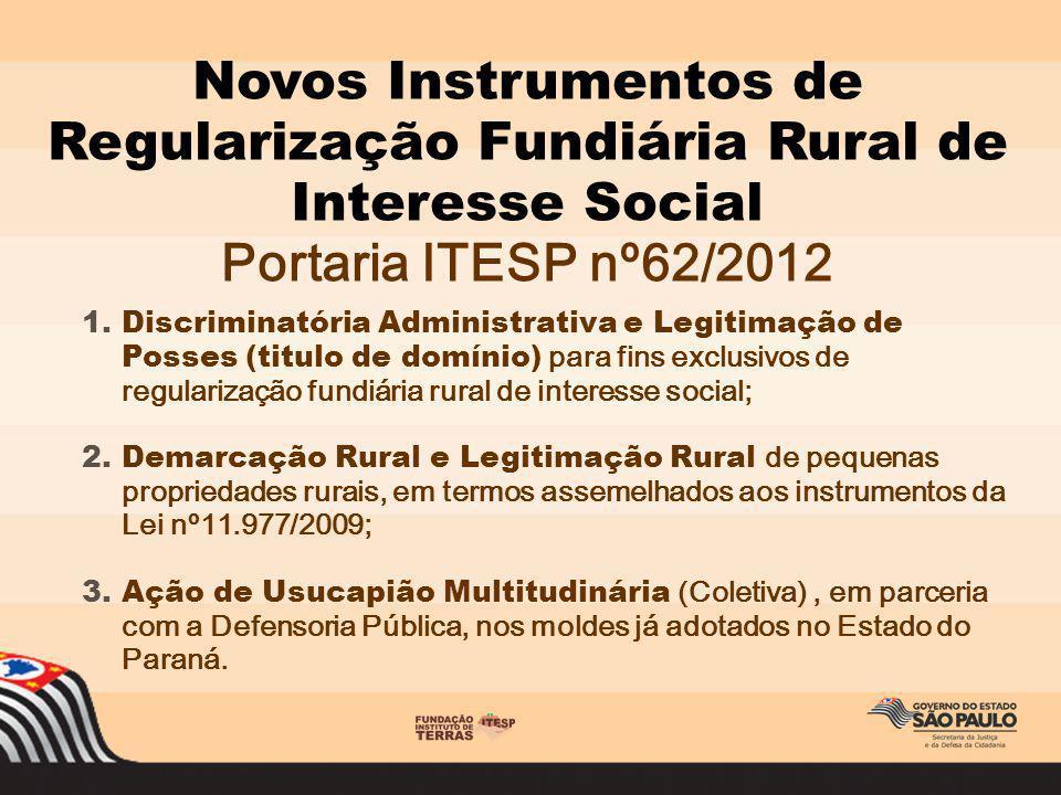 Novos Instrumentos de Regularização Fundiária Rural de Interesse Social